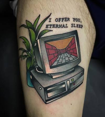 Crescent City Tattoo, Evansville Tattoo, Tattoo Evansville Indiana, Shane Klos, tattoo, tattoos, laser tattoo removal, louisville tattoo, tattoo shop, traditional, neo traditional, grey wash, full color, best, cleanest, friendly, laser, VAPORWAVE TATTOO